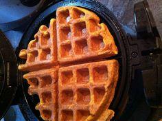 Sweet Potato Paleo Waffles. I'd imagine it could be paleo pancakes too. Uses mashed sweet potatoes.