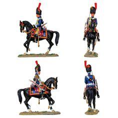 """Granadero a caballo de la Guardia Imperial 1808/1814 (Colección """"Caballeros de las Guerras Napoleónicas"""" editada por delPrado - 60 mm) Subido desde www.elgrancapitan.org"""