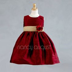 Red Holi-Dotti Infant Gown - Nancy August Holiday Dresses ...