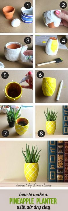 How to ,make a pineapple planter DIY
