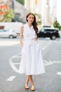 Dress:+vintage Flats:+Asprey+London   - ELLE.com