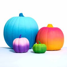 Paint an ombre effect on your fall pumpkins with this simple project using Delta! These beautifully painted pumpkins have a unique touch that will make your fall celebrations colorful and fun.