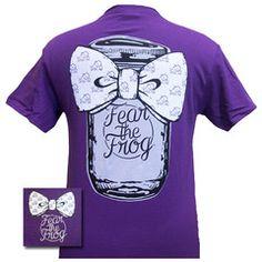 New Texas TCU Horned Frogs Mason Jar Big Bow Girlie Bright T Shirt   SimplyCuteTees