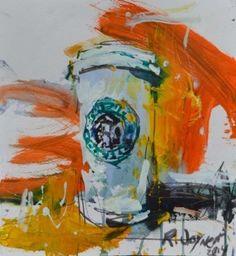 Starbucks Still Life Artwork, painting by artist Robert Joyner