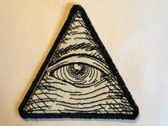 Eye of Providence Iron on Patch. $8.00, via Etsy.