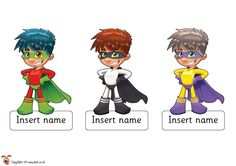 Cute superhero editable labels for classroom - good for putting in cloak room.