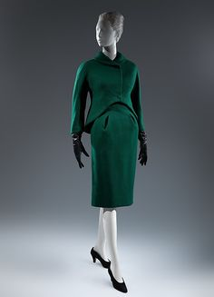 Suit (image 1) | Charles James | American | 1961-62 | wool | Metropolitan Museum of Art | Accession Number: 1975.52.5a, b