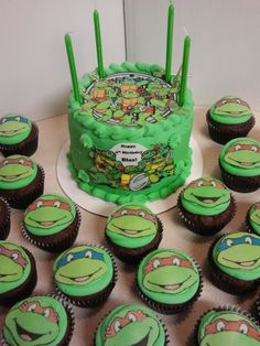 TMNT birthday cake Childrens Birthday Cakes Food Pinterest