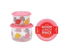 Small Lunch Containers Set - Hedgehog #schoollunch #snacks #lunchbox
