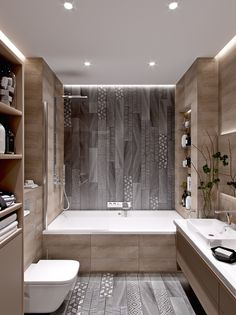 Stunning Cute Minimalist Bathroom Design Ideas For Your Inspiration. - Stunning Cute Minimalist Bathroom Design Ideas For Your Inspiration. Minimalist Bathroom Design, Minimal Bathroom, Modern Bathroom Design, Bathroom Interior Design, Bathroom Designs, Modern Bathrooms, Bath Design, Classic Bathroom, Modern Bathtub