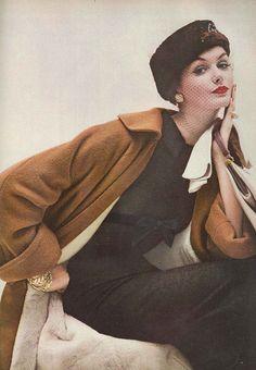 Lucinda Hollingsworth, October Vogue 1956 by dovima_is_devine_II, via Flickr