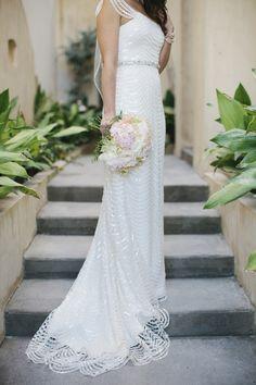 Photography: Leslie Hollingsworth - www.leslie-hollingsworth.com  Read More: http://www.stylemepretty.com/2015/02/27/blush-gold-rosemary-beach-wedding/