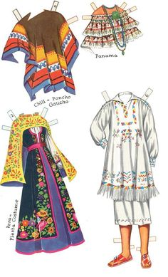 Reprint of CHA CHA CHA Paper Dolls with costumes representative of traditional dress in assorted Central and South American countries. Judging by the style and the cover price, the reprint probably is from the early 60s. <><> 7 of 8