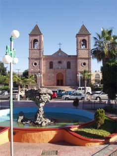 BAJA CALIFORNIA SUR PEOPLE | Church and square in central La Paz. The mushroom shaped rock is a ...
