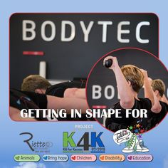 """Sweating it out, getting in shape for Tekkie Tax """"𝐏𝐫𝐨𝐣𝐞𝐜𝐭 𝐊 𝟒 𝐊 – 𝐊𝐢𝐥𝐢 𝐟𝐨𝐫 𝐊𝐚𝐮𝐬𝐞𝐬""""! at Bodytec South Africa (Eldoraigne). RietteC Photography is taking pictures while we sweat it out…"""