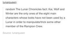Of the main ten (Cinder, Scarlet, Cress, Winter, Kai, Wolf, Thorne, Jacin, Iko, and Levana) Kai, Thorne, and Iko are the only three with zero Lunar blood in them.