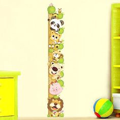 $7.59  - Alrens_DIYTMCute Cartoon Panda Cat Bear Lion Height Growth Chart Ruler Stickers Removabe DIY PVC Wall Sticker Living Room Bedroom Kids Nursery Room Home Decoration adesivo de parede Decor Mural Creative Decal -- Check out this great product. (This is an affiliate link) #WallStickersMurals