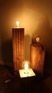 Best Vintage Lampe aus Holzbalken DIY Ganz einfach selber bauen