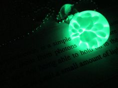 Glow in the Dark glass necklace pendant