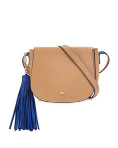 Faux-Leather+Tassel+Saddle+Bag,+Camel+by+Neiman+Marcus+at+Neiman+Marcus+Last+Call.