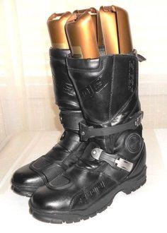 Sedici Adventure Black Leather Waterproof Motorcycle Boot Euro 43  Men's US 10 #Sedici #Boot