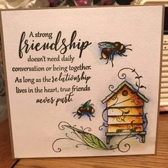 Friend Cards, Cards For Friends, Sign Quotes, Cute Quotes, Bee Images, Sunflower Cards, Wonder Quotes, Friendship Cards, Beekeeping