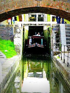 Boats at Foxton lock