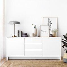 Mueble blanco Trend | Color blanco, ¡un básico para el hogar! El mueble de tv Trend en blanco es bonito y práctico, perfecto para colocar en el salón y guardar todo lo que necesites. Esta serie es modular, por lo que se puede hacer la composición que más se ajuste a tus necesidades. Ponte en contacto con nosotros para conocer todas las opciones y acabados. ¡Podrás diseñar tu propio espacio! #kenayhome #home #mueble #tv #aparador #blanco #lacado #madera #de #DecoraciondeApartamentos Decor, Furniture, Interior, Kave Home, Interior Spaces, Home Decor, Bedroom Decor, Bedroom Deco, Living Room Designs