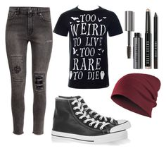 """P!ATD concert!"" by mrssaxobeat19 ❤ liked on Polyvore featuring H&M, Converse, Bobbi Brown Cosmetics and panicatthedisco"