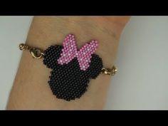 Beaded Earrings, Beaded Jewelry, Crochet Earrings, Handmade Jewelry, Peyote Patterns, Beading Patterns, Miki Mouse, Brick Stitch Tutorial, Bracelet Crafts