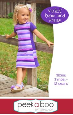 Violet Tunic & Dress - Peek-a-Boo Pattern Shop