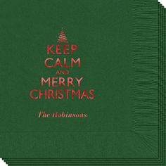Keep Calm and Merry Christmas Napkins