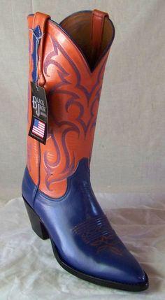 Attention Florida Gator Fans!!!! Black Jack custom made boots in Florida Gator colors.