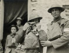 Shell shock victims, World War 1. Shell shock was the WW I version of Post-traumatic stress disorder (P.T.S.D.)