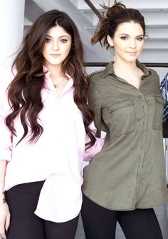 Kendall & Kylie Jenner: cute hair and makeup