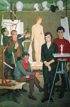 Dmitry Zhilinsky In the workshop of the sculptor. Alex Colville, Audrey Kawasaki, Carl Larsson, Andrew Wyeth, Barnett Newman, Russian Painting, Russian Art, Akira, Watercolor Sunset