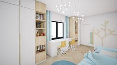Modern kidsroom design for twin boys by / Moderný dizajn detskej izby v novostavbe v Bratislave od Rendering Architecture, Interior Styling, Interior Design, Twin Boys, Kids Room Design, Bratislava, Kidsroom, Old Town, Industrial Design
