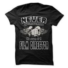 Never Underestimate The Power Of ... Film director - 99 - #hoodies womens #hoodie for girls. GET IT => https://www.sunfrog.com/LifeStyle/Never-Underestimate-The-Power-Of-Film-director--999-Cool-Job-Shirt-.html?68278