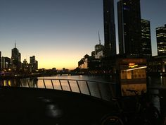 Beautiful Melbourne morning taken near Spencer St bridge. #YarraRiver #Melbourne #Sunrise #SpencerStreet