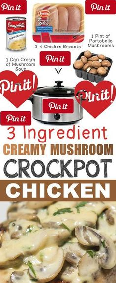 12 Mind-Blowing Ways To Cook Meat In Your Crockpot Calling all MUSHROOM lovers! This recipe is just too easy to pass up. You can add more or less chicken