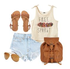 Gorgeous denim sky blue shorts with top free spirit blouse and brown leather hand bag and shoes and goggles the best summer teen fashion trend