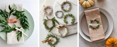 Place settings Green Garlands | SouthBound Bride