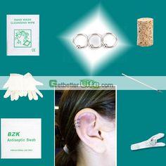 US$1.88 - 3 pcs SterilIized Silvery Ring Rings Body Piercing Jewelry Needle Tool kit