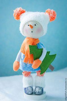 Мастер-класс: снеговичок Снежок своими руками - Ярмарка Мастеров - ручная работа, handmade