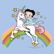 #bettyboop #popfunk  http://www.popfunk.com/mens-tees/betty-boop/boop-unicorn-rainbows.html