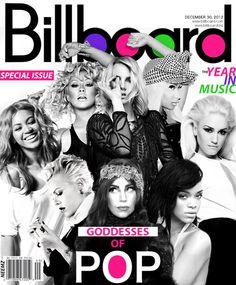 Lady Gaga, Britney Spears, Christina Aguilera, Gwen Stefani, Beyoncé, Pink, Rihanna e Nicki Minaj
