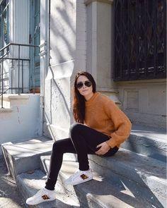 WEBSTA @its_mathilde Sunny day in New York ☀️ Qui sont les chanceux de novembre qui ont un super soleil et une super température ? 🙌🏻 . . Zara, Ulzzang, Normcore, Hipster, Baskets, New York, Instagram, Style, Fashion
