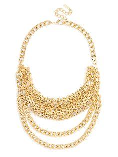 Midas Chain Bib Necklace   BaubleBar
