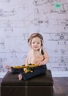 Baby/Toddler aviator hat aviator hat with goggles by RYLOwear