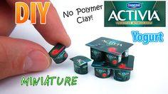DIY Miniature Dannon Activia Yogurt | DollHouse | No Polymer Clay!